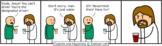 Cyanide And Happiness - Jesus Is A Pretty Bad Backseat Driver Too