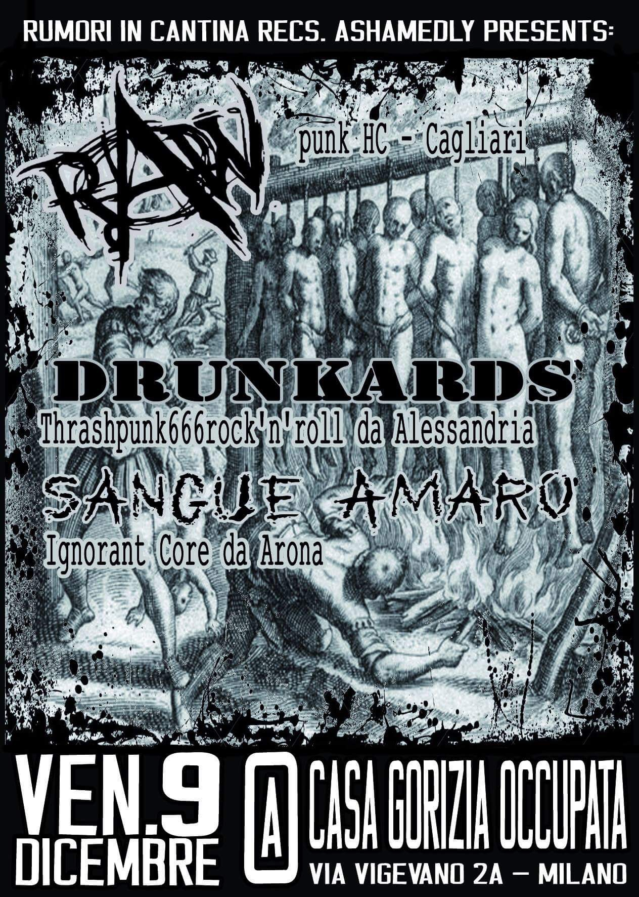 Raw Punk+Drunkards+Sangue Amaro @Casa Gorizia