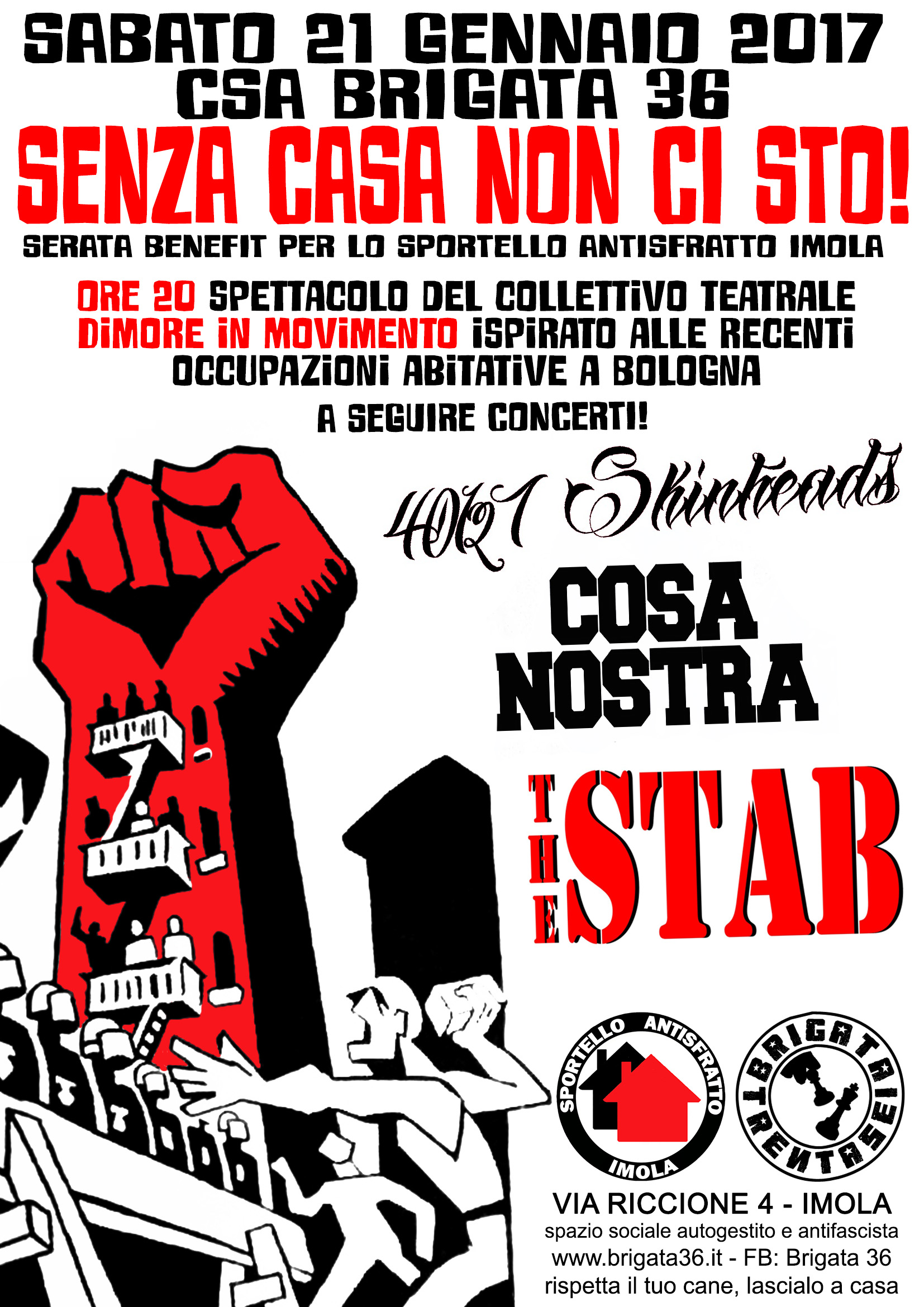 The Stab + CosaNostra + 40127 Skinheads