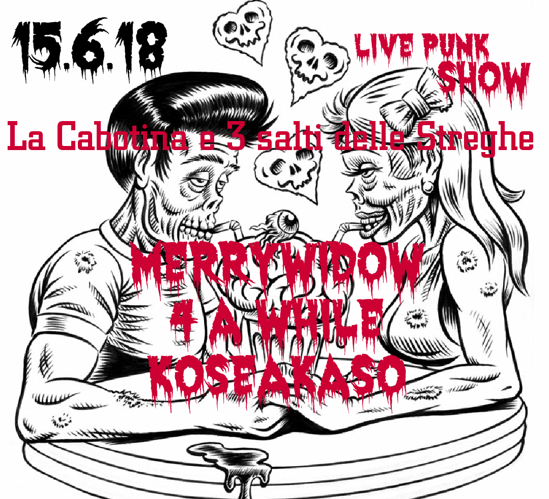 Punk night: MerryWidow/4AWhile/Crushed Cans punk live!!!!