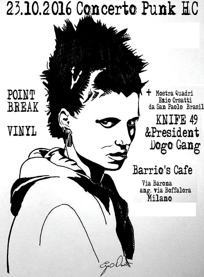 23.10.2016 Live Punk HC con PointBreak-Vinyl-Knife49+Mostra