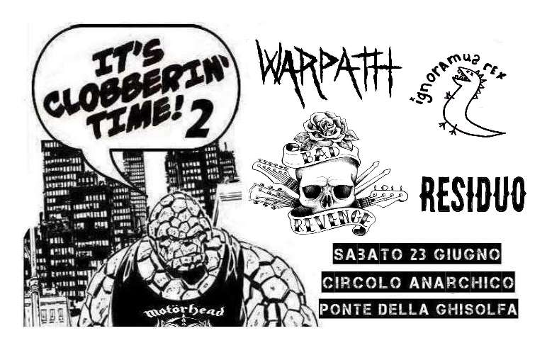 Warpath + Ignoramus Rex + Residuo + Mercy Seat