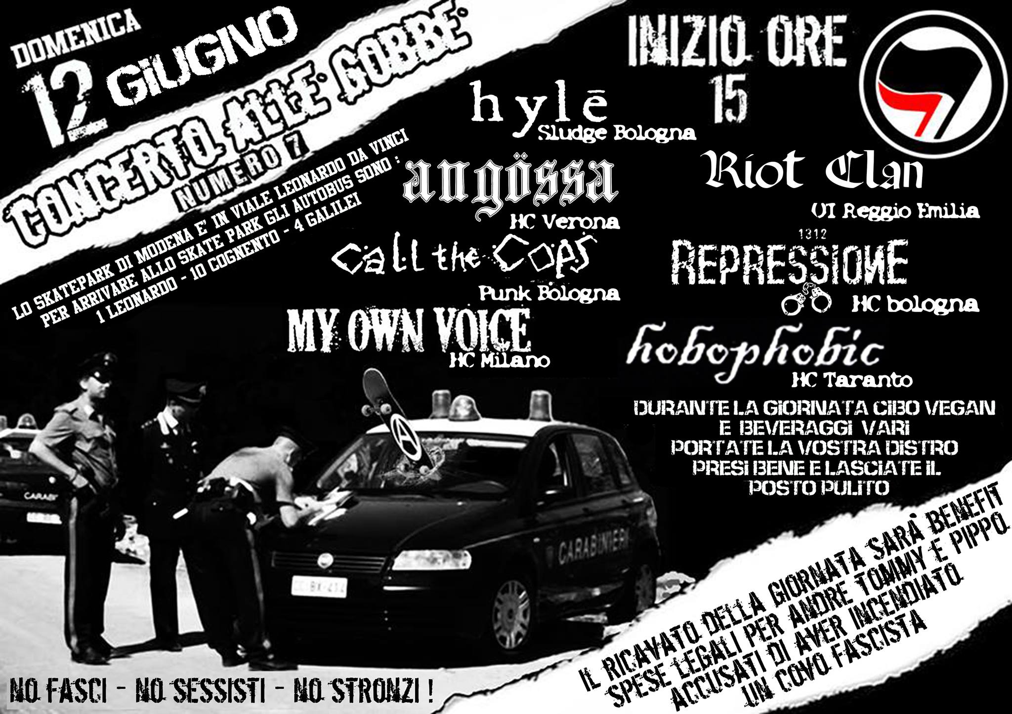 Concerto punk hc benefit alle Gobbe