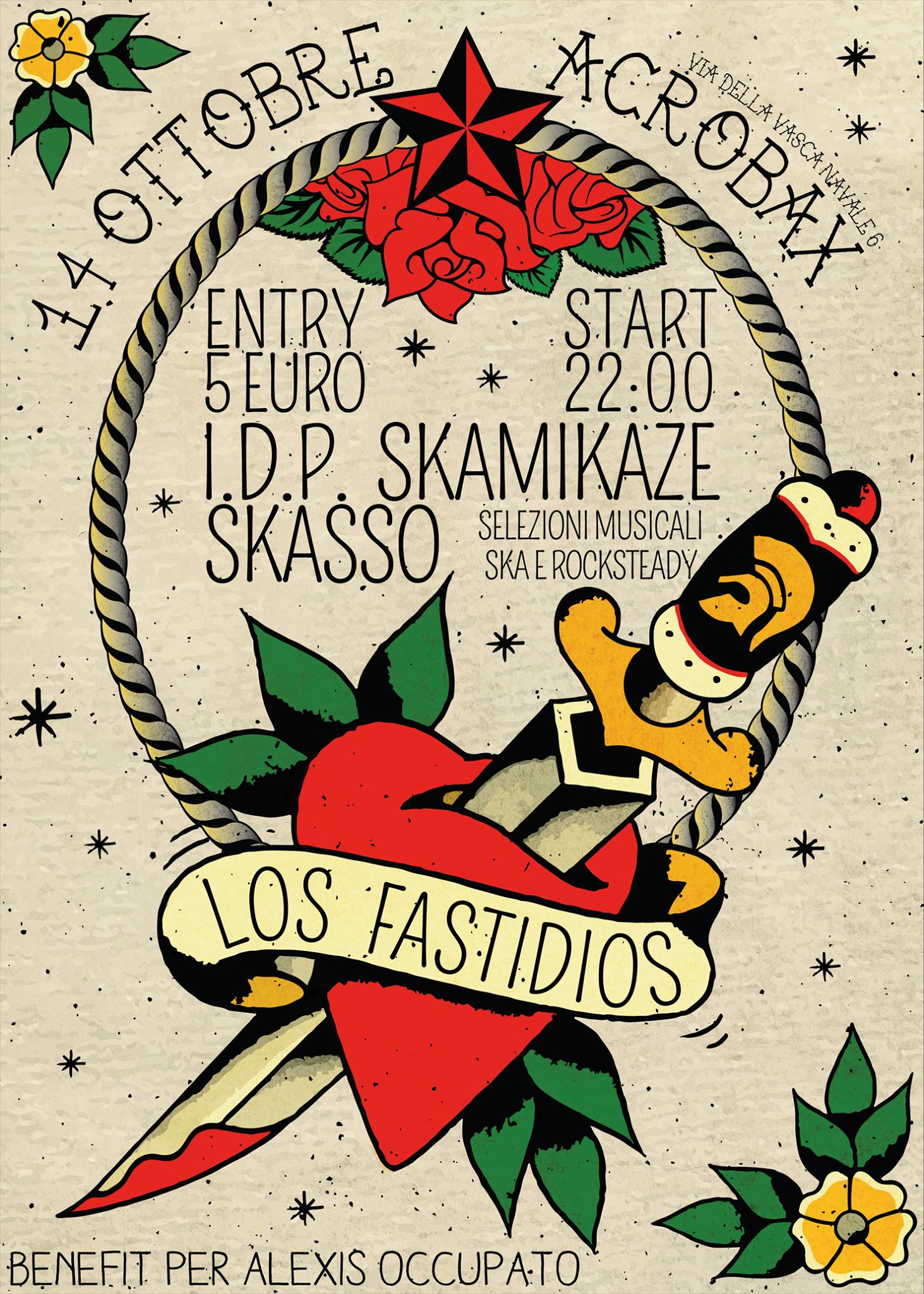 Rude night: Los Fastisios-Skasso-Skamikaze Sound Attack-Idp
