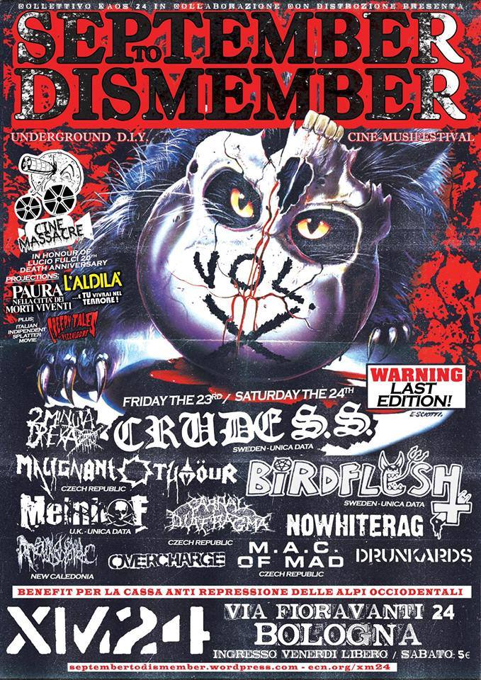 September To Dismember Vol. X - underground diy music fest
