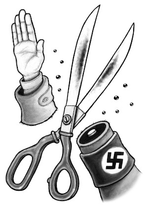 Antifa Scissors Illustrazione di Grafica Nera