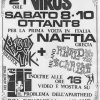 08 Ottobre 1988 Virus Piazza Bonomelli Chaos UK - Naftia - Ronald & The Scarolas