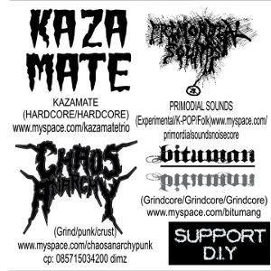 Kazamate & Primordial Sounds & Chaos Anarchy & Bituman - [2010] Noizer! 4 Way Of Split